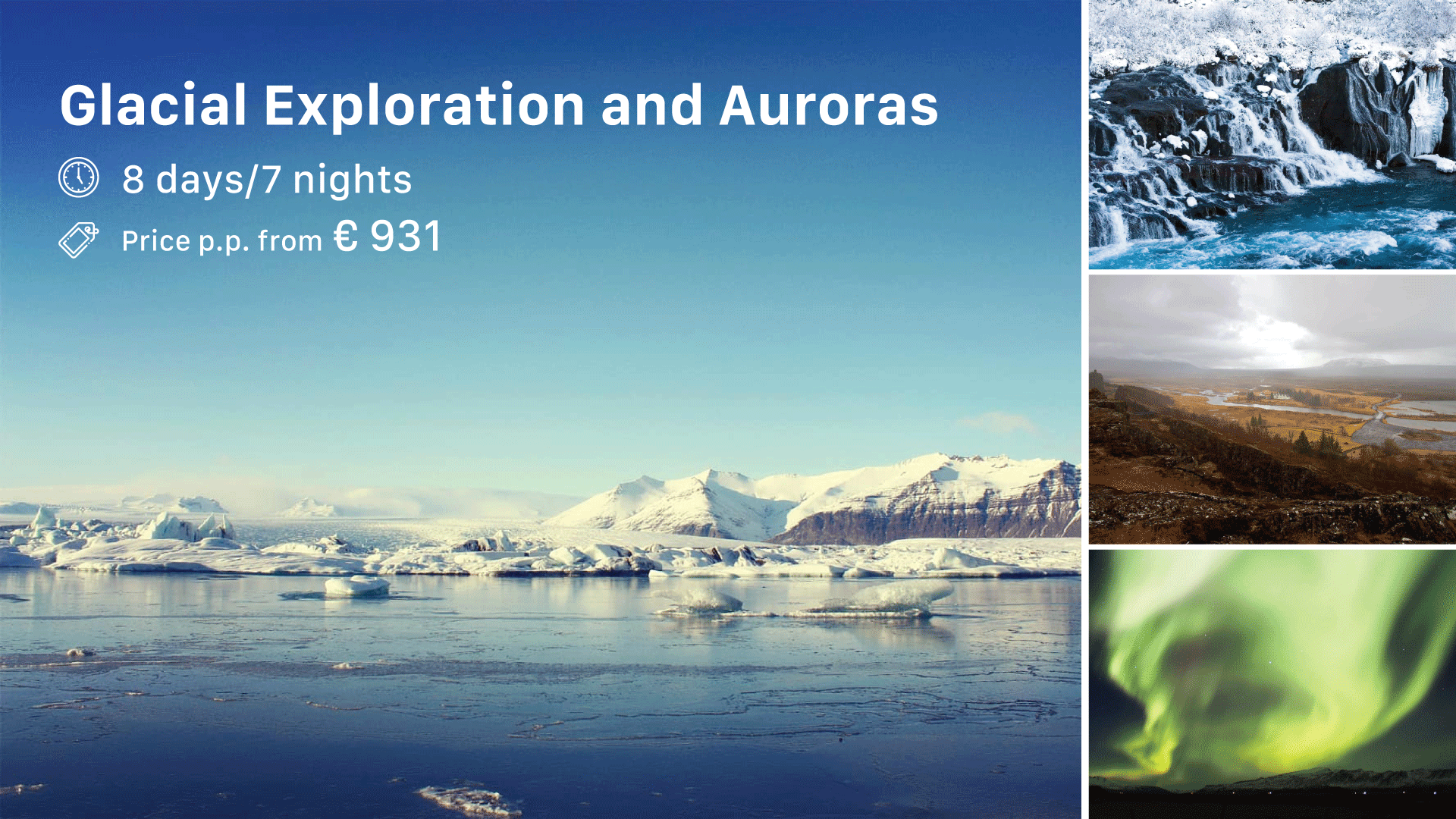 Glacial Exploration and Auroras