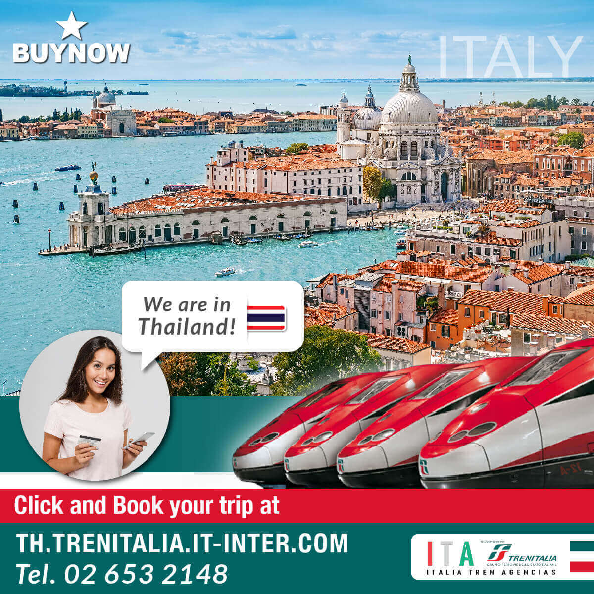 Book your train ticket to italy by trenitalia
